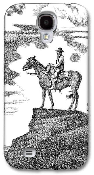 Old-west-art-cowboy Galaxy S4 Case by Gordon Punt