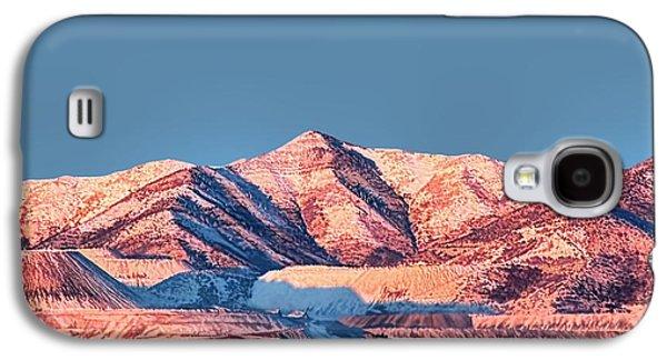 Oquirrh Mountains Utah First Snow Galaxy S4 Case by Tracie Kaska