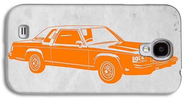 Orange Car Galaxy S4 Case by Naxart Studio