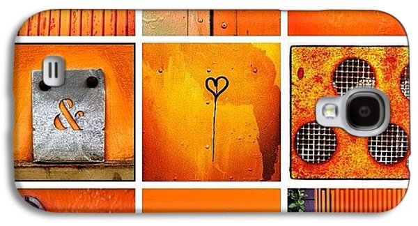 Orange Galaxy S4 Case - Orange  by Julie Gebhardt