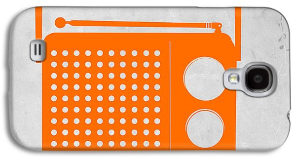 Orange Transistor Radio Galaxy S4 Case by Naxart Studio