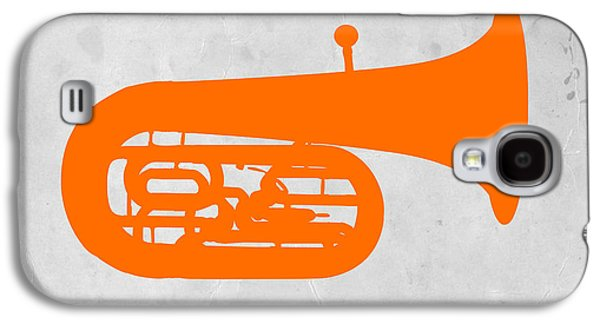 Trombone Galaxy S4 Case - Orange Tuba by Naxart Studio
