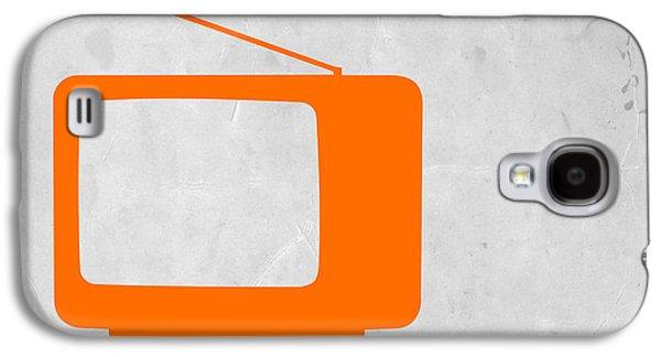 Orange Tv Vintage Galaxy S4 Case by Naxart Studio