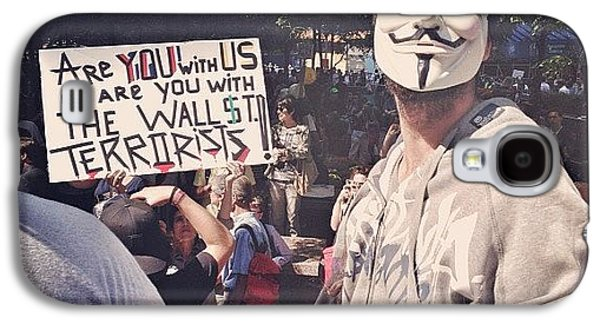 Summer Galaxy S4 Case - Ows Occupy Wall Street by Randy Lemoine