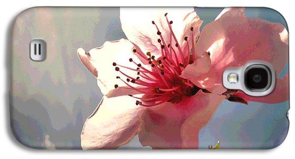Peach Blossom Macro 2 Galaxy S4 Case by Joyce Dickens