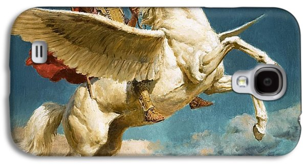 Pegasus The Winged Horse Galaxy S4 Case by Fortunino Matania
