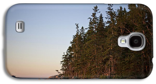 Pine Trees Along The Rocky Coastline Galaxy S4 Case