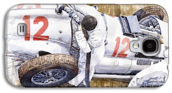 Pit Stop German Gp 1939 Mercedes Benz W154 Rudolf Caracciola Galaxy S4 Case