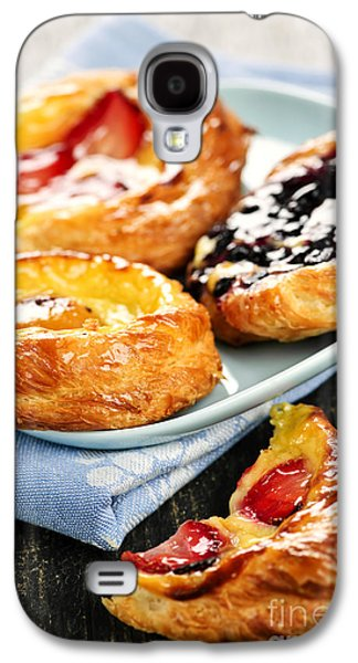 Plate Of Fruit Danishes Galaxy S4 Case by Elena Elisseeva
