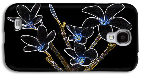 Plumeria Outlines B7072 Galaxy S4 Case by Michael Peychich