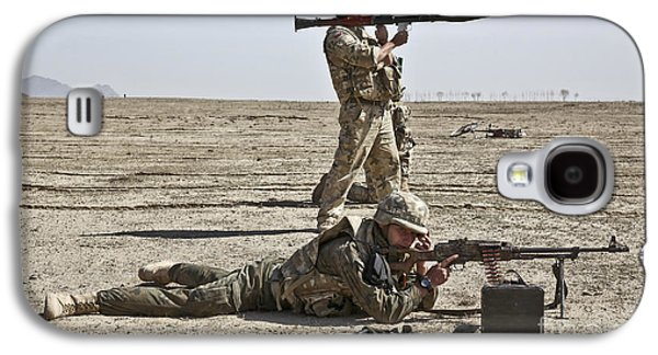 Polish Soldiers Prepare To Fire Galaxy S4 Case by Stocktrek Images