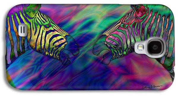 Polychromatic Zebras Galaxy S4 Case by Anthony Caruso
