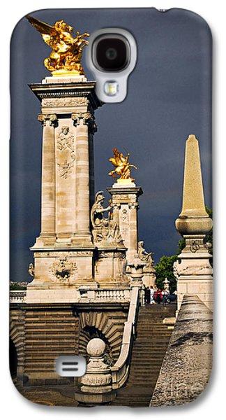 Pont Alexander IIi In Paris Before Storm Galaxy S4 Case by Elena Elisseeva