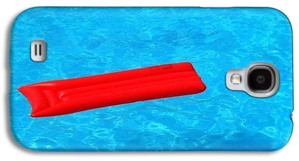 Cool Galaxy S4 Case - Pool - Blue Water And Red Airbed by Matthias Hauser