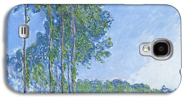 Impressionism Galaxy S4 Case - Poplars by Claude Monet