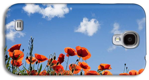 Poppy Flowers 05 Galaxy S4 Case by Nailia Schwarz