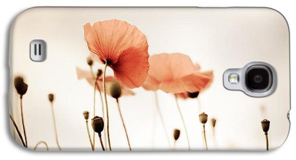 Poppy Flowers 14 Galaxy S4 Case by Nailia Schwarz