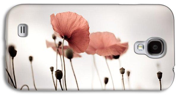 Poppy Flowers 16 Galaxy S4 Case by Nailia Schwarz
