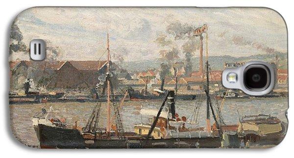 Port Of Rouen Galaxy S4 Case by Camille Pissarro