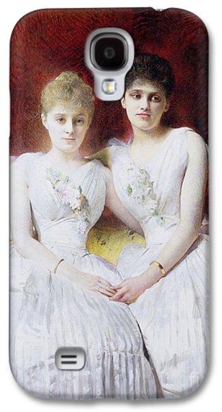 Portrait Of Marthe And Terese Galoppe Galaxy S4 Case by Leon Joseph Bonnat