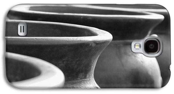 Pots In Black And White Galaxy S4 Case by Kathy Clark