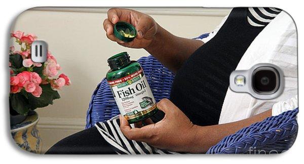 Pregnant Woman Taking Fish Oil Galaxy S4 Case