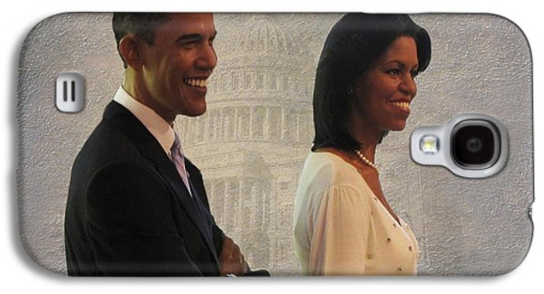 President Obama And First Lady Galaxy S4 Case by David Dehner