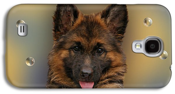 Puppy With Bubbles Galaxy S4 Case by Sandy Keeton