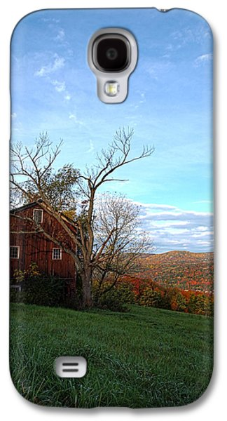 Purple Foot And Autumn Leaves Galaxy S4 Case by Joshua House