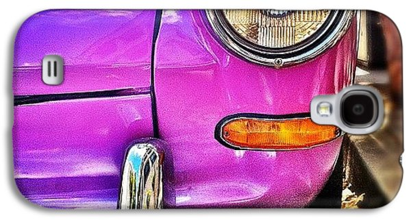 Colorful Galaxy S4 Case - Purple Vw Bug by Julie Gebhardt