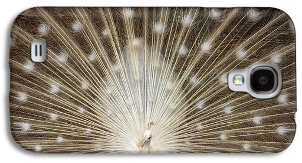 Rare White Peacock Galaxy S4 Case by Larry Marshall