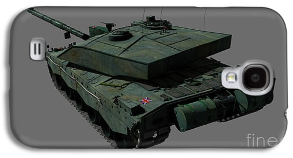 Rear View Of A British Challenger II Galaxy S4 Case by Rhys Taylor