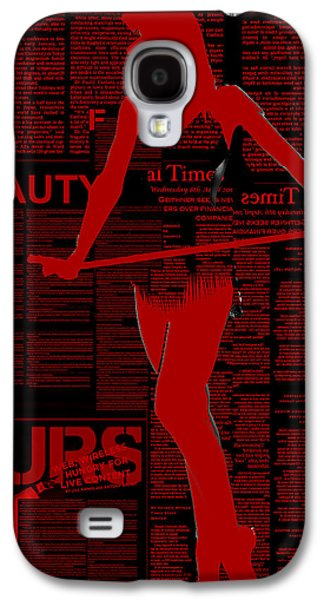 Red Paper Dance Galaxy S4 Case by Naxart Studio