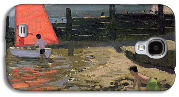 Red Sail Isle Of Wight Galaxy S4 Case by Andrew Macara