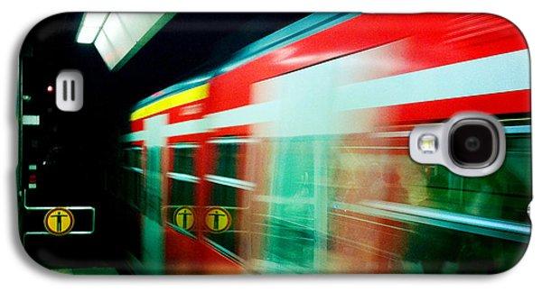 Red Train Blurred Galaxy S4 Case by Matthias Hauser