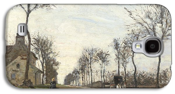 Road In Louveciennes Galaxy S4 Case by Camille Pissarro