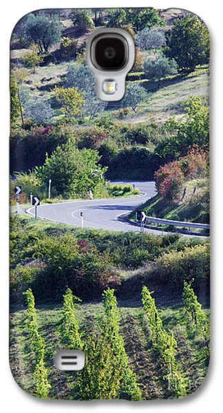 Road Winding Through Vineyard And Olive Trees Galaxy S4 Case by Jeremy Woodhouse