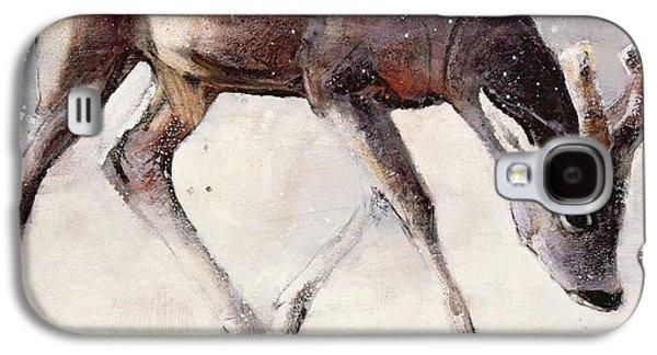 Roe Buck - Winter Galaxy S4 Case by Mark Adlington