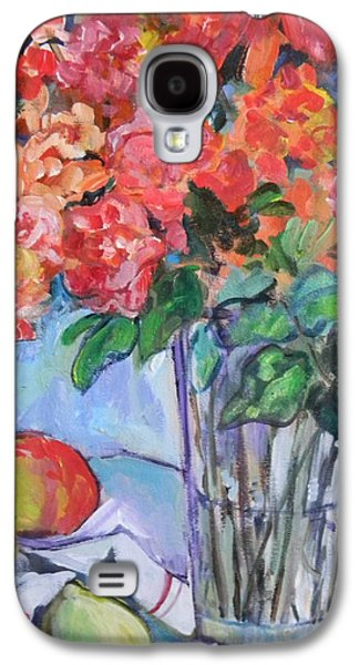 Roses And Peaches Galaxy S4 Case by Carol Mangano