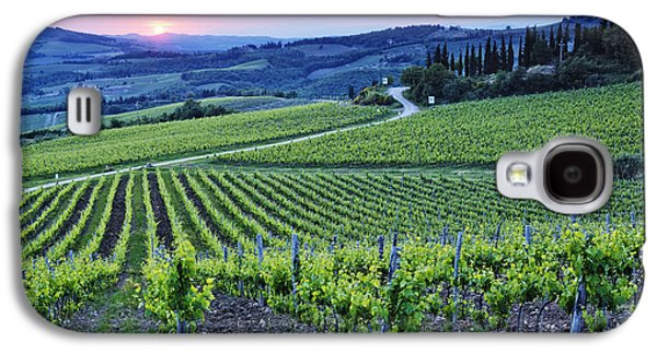 Rows Of Grapevines At Sunset Galaxy S4 Case by Jeremy Woodhouse