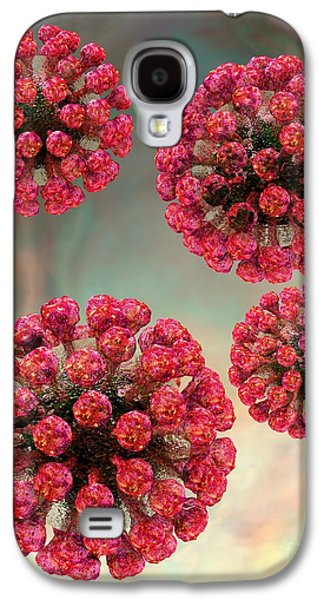 Rubella Virus Particles Galaxy S4 Case by Russell Kightley