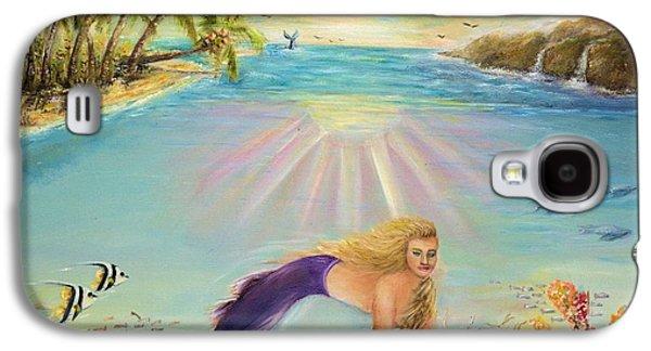 Sea Mermaid Goddess Galaxy S4 Case by Bernadette Krupa