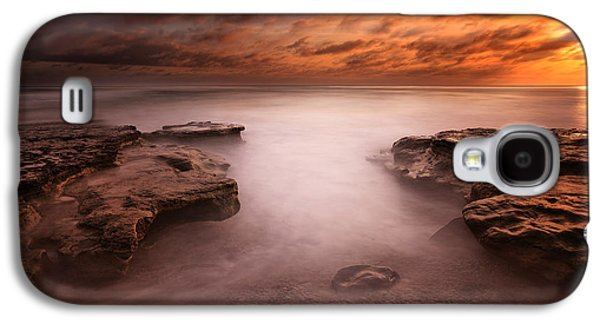 Seaside Reef Sunset 3 Galaxy S4 Case by Larry Marshall