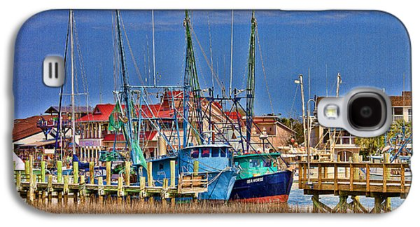 Shem Creek Shrimpers Galaxy S4 Case by Bill Barber
