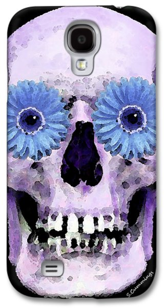 Skull Art - Day Of The Dead 3 Galaxy S4 Case by Sharon Cummings