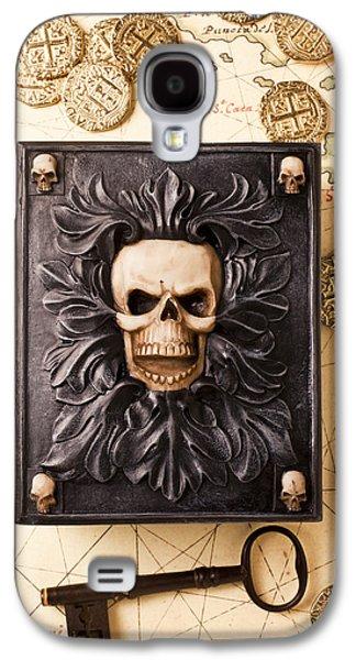 Skull Box With Skeleton Key Galaxy S4 Case