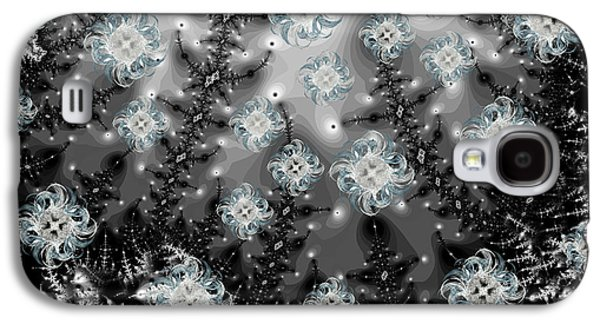 Snowy Night I Fractal Galaxy S4 Case by Betsy Knapp