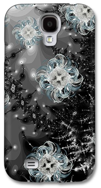 Snowy Night IIi Fractal Galaxy S4 Case