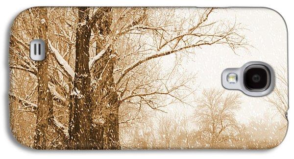 Soft Sepia Season's Greetings Galaxy S4 Case