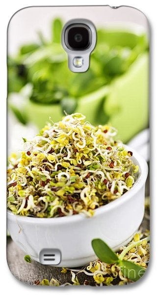 Broccoli Galaxy S4 Case - Sprouts In Cups by Elena Elisseeva